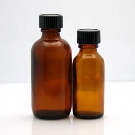 Amber Glass Bottles w/ Cap