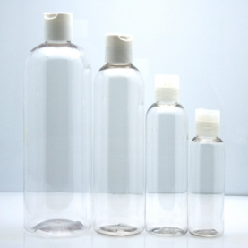 PET Plastic Bottles w/ Disc Tops
