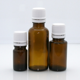 Amber Glass Bottles w/ Orifice Reducer