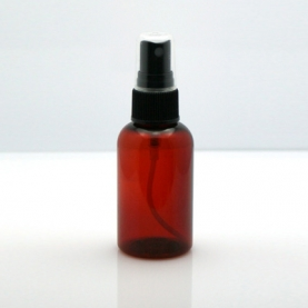 PET Plastic Amber Bottle w/ Spray